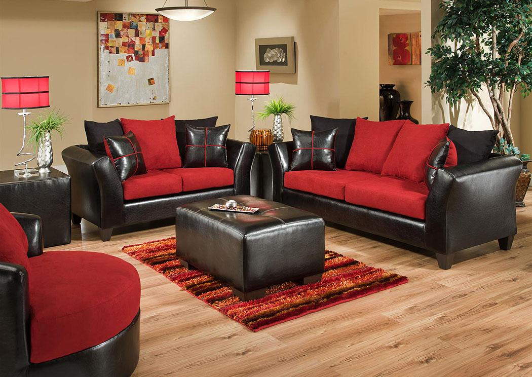 Atlantic Bedding And Furniture Charlotte Nc Jefferson Black Victory Lane Cardinal Sofa And