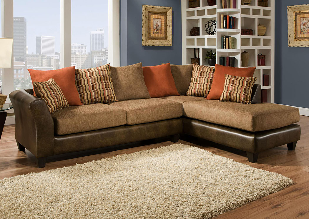 Atlantic Bedding And Furniture Charlotte Nc Mclarin Saddle Council Mocha Sectional W Right