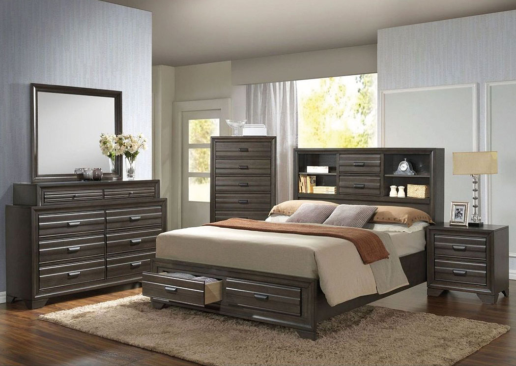 Atlantic Bedding And Furniture Charlotte Nc Bowie Queen Storage Bed W Dresser And Mirror