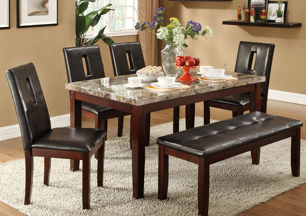 Atlantic Bedding And Furniture Charlotte Nc Dining Table W 4 Chairs And Bench