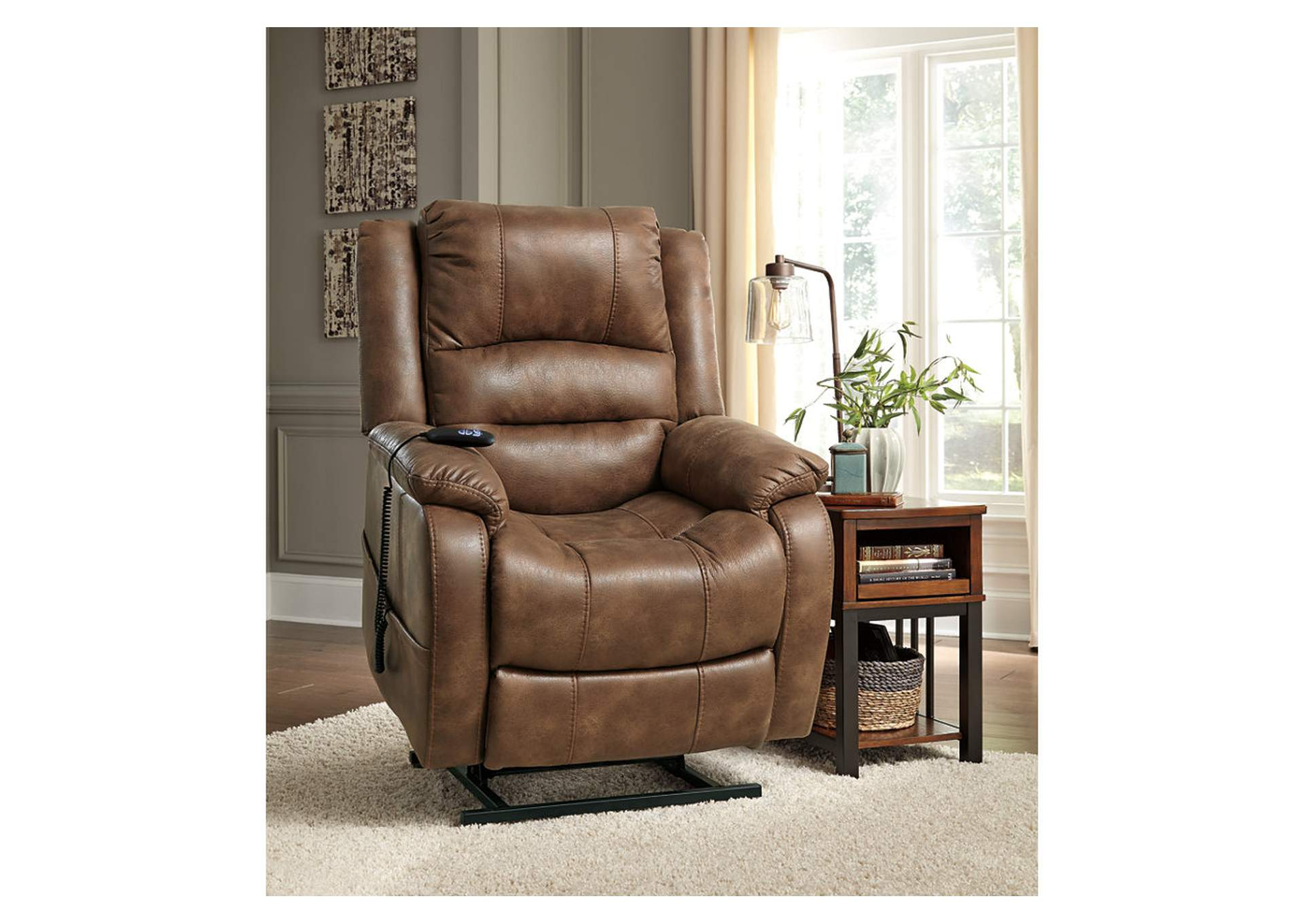 Irving Blvd Furniture Yandel Saddle Power Lift Recliner