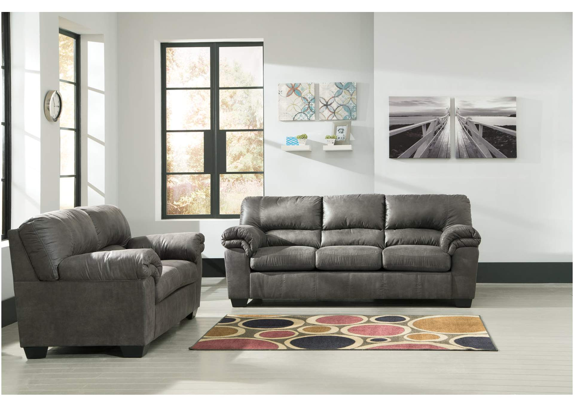 Alabama Furniture Market Bladen Slate Sofa And Loveseat