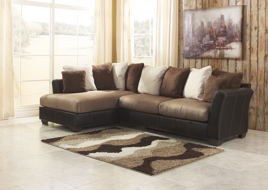 Masoli Mocha Left Facing Chaise Sectional,Benchcraft