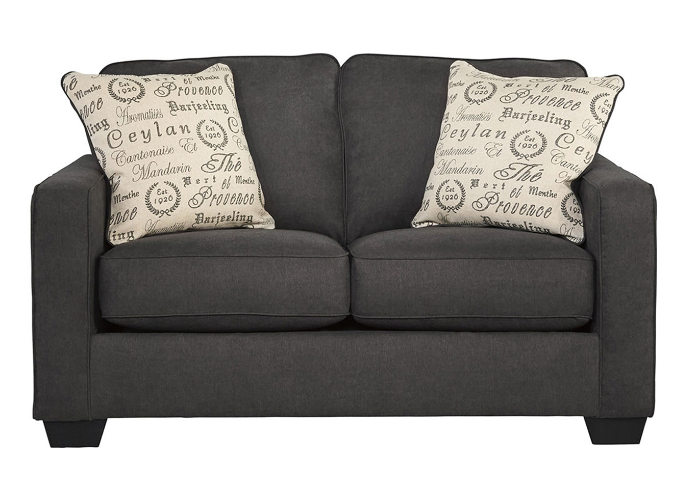 Rick 39 S Furniture Starkville Ms Alenya Charcoal Loveseat