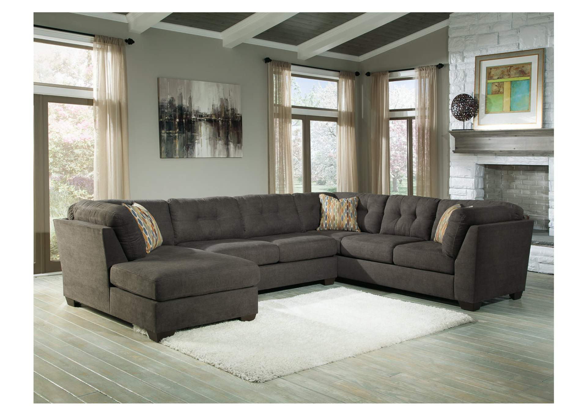 Price Point Furniture Delta City Steel Left Arm Facing Corner Chaise Sectional