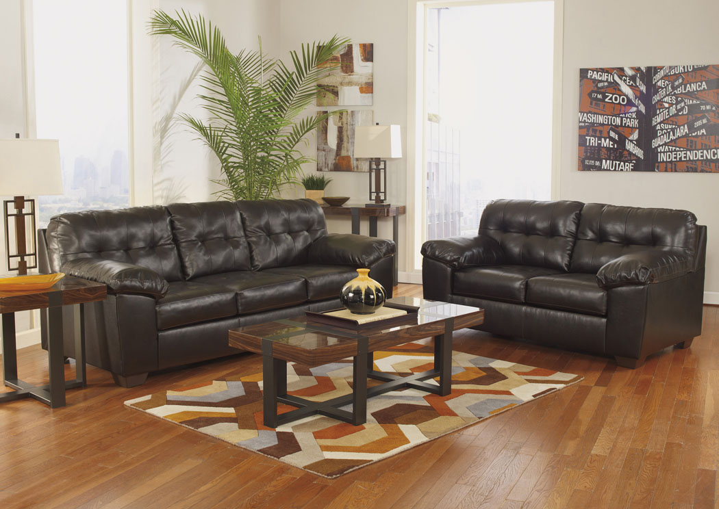 Kemper Furniture Alliston Durablend Chocolate Sofa Loveseat
