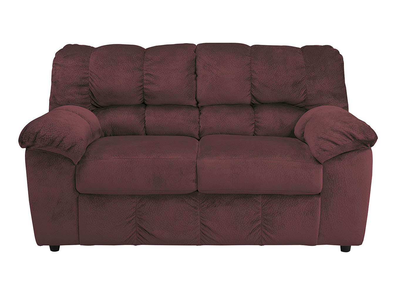 Roses Flooring And Furniture Julson Burgundy Loveseat