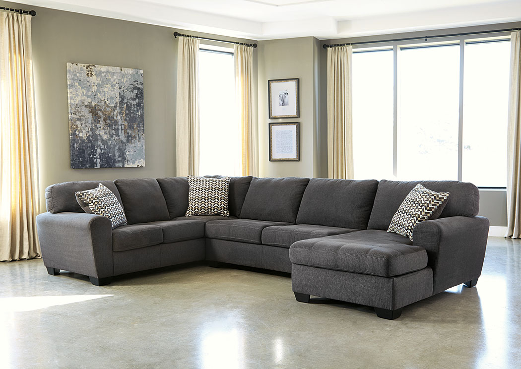 Price Point Furniture Sorenton Slate Right Facing Chaise Sectional