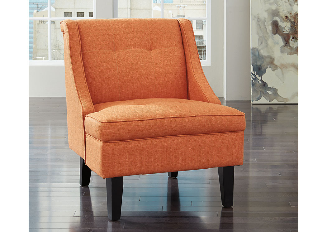 Jarons Clarinda Orange Accent Chair