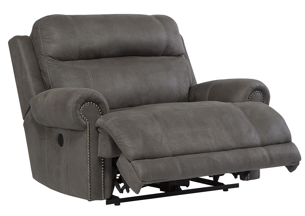 Stringer Furniture Austere Gray Zero Wall Power Wide Recliner
