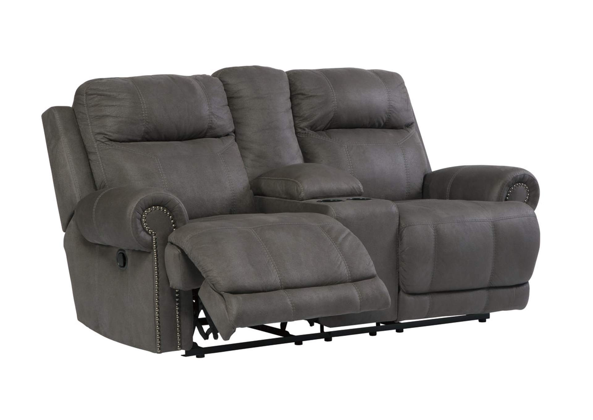 Furniture Distributors Havelock Nc Austere Gray Double Reclining Power Loveseat W Console