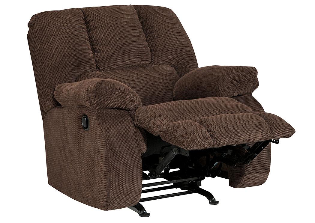 Florissant Furniture Roan Cocoa Rocker Recliner
