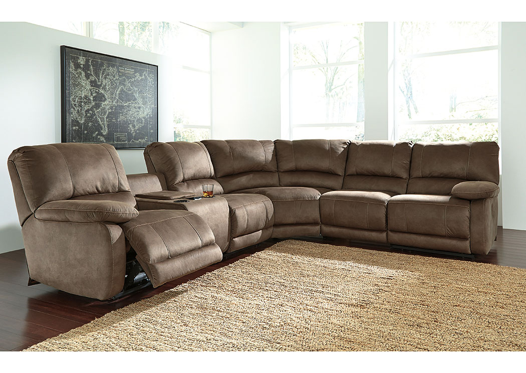 Atlantic Bedding And Furniture Charlotte Nc Seamus Taupe Sectional W Right Facing Zero Wall