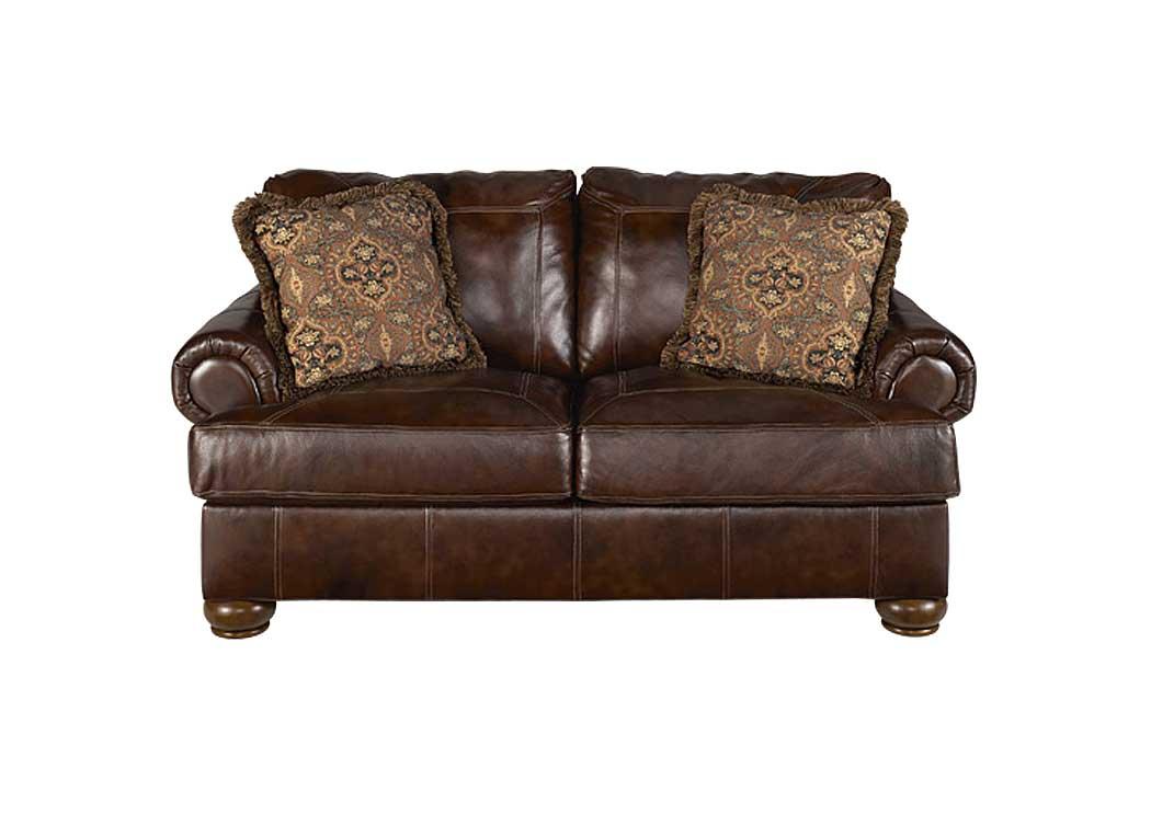 Barbara Jeans Furniture Axiom Walnut Loveseat