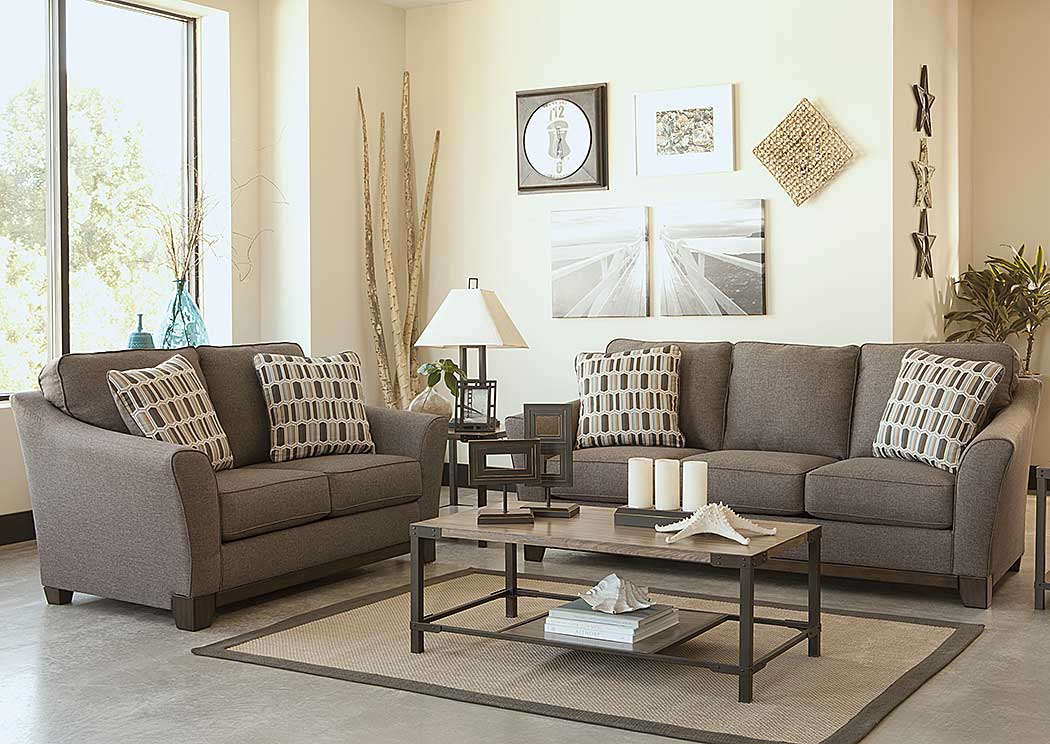 Furniture Palace Janley Slate Sofa & Loveseat