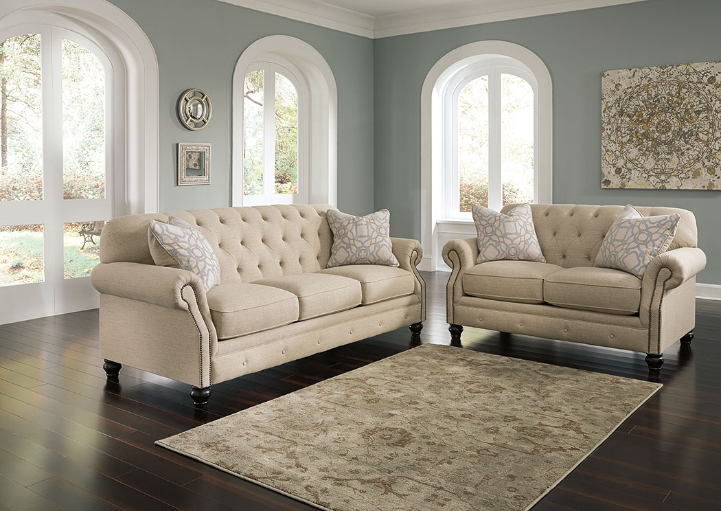 Darwish furniture new york city ashley furniture dealer kieran natural sofa and loveseat Ashley couch and loveseat