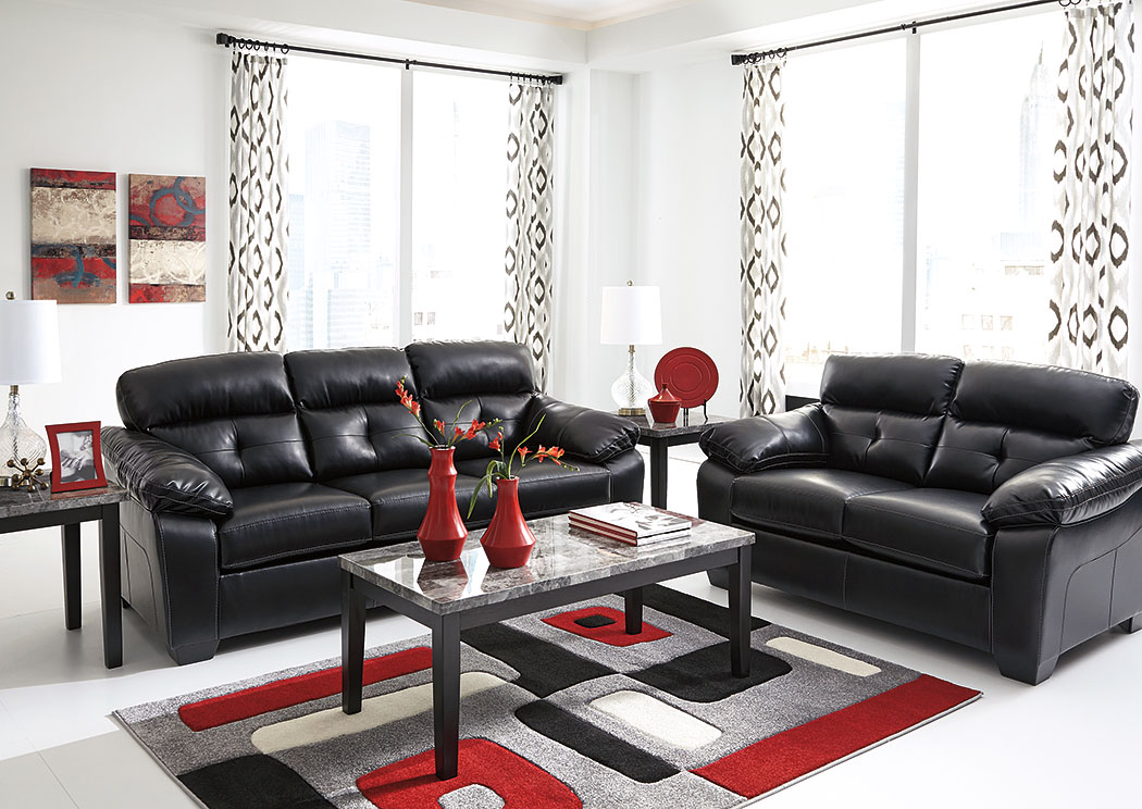 Furniture Palace Bastrop DuraBlend Midnight Sofa & Loveseat