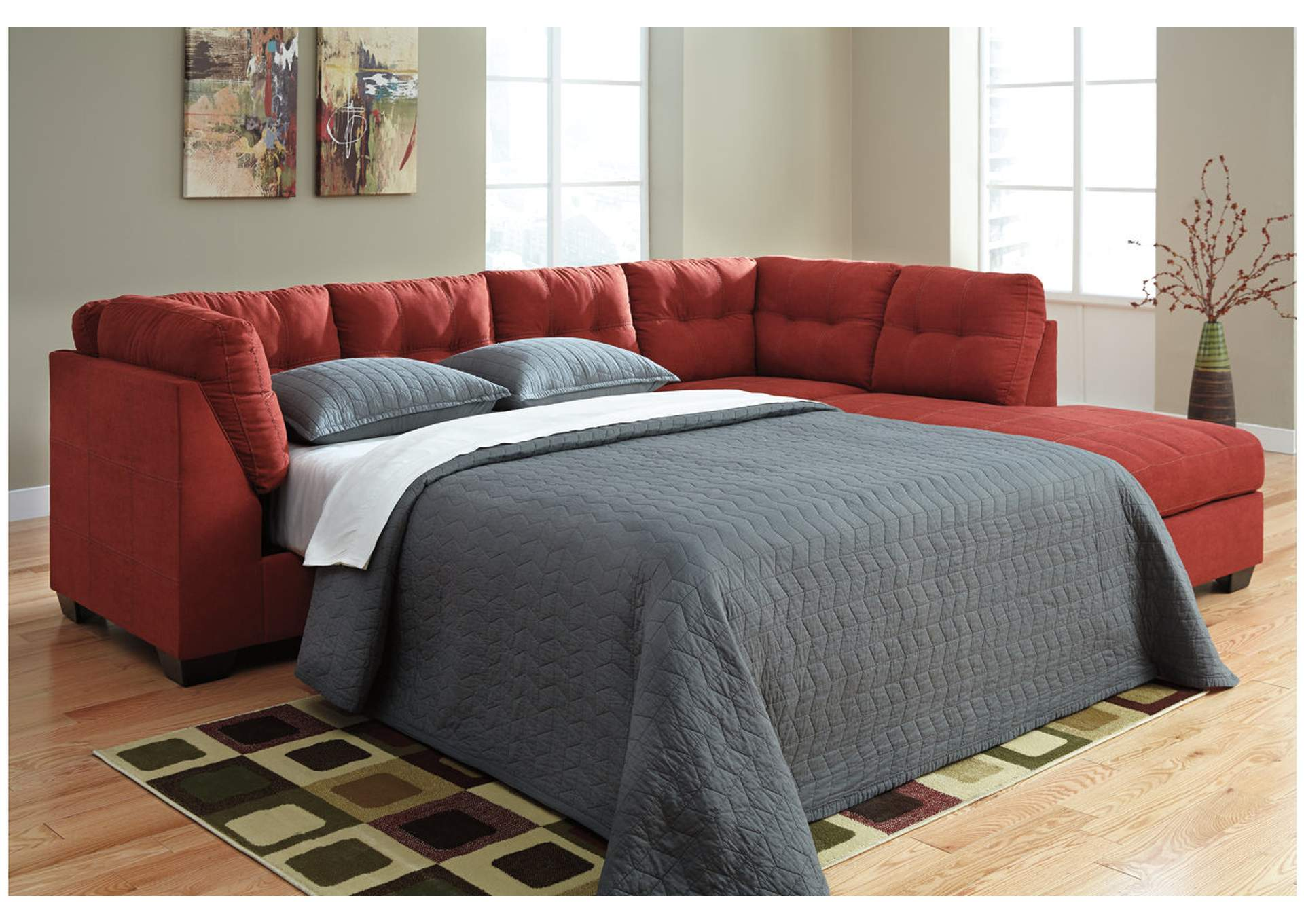 Vip Furniture Outlet Upper Darby Pa Maier Sienna Right Arm Facing Chaise End Sleeper Sectional