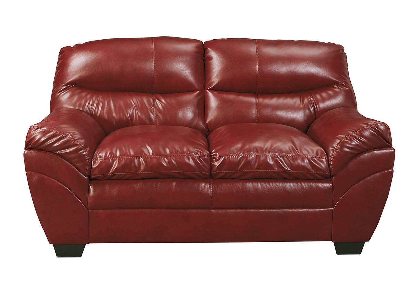 Roses Flooring And Furniture Tassler Durablend Crimson Loveseat