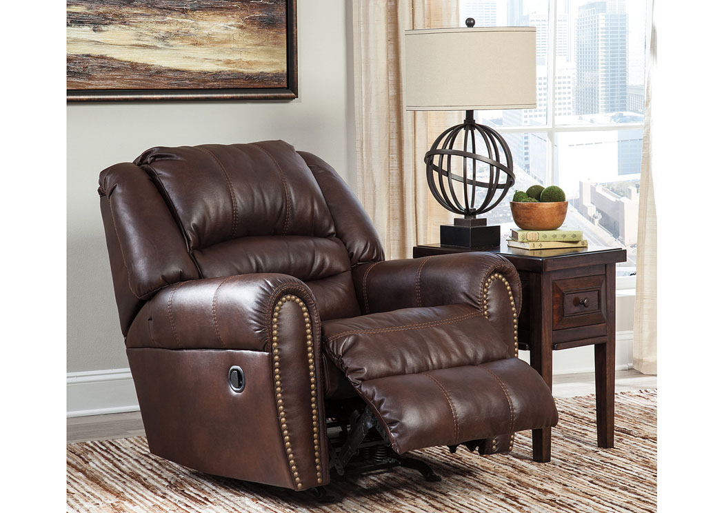 Foothills Family Furniture Manzanola Chocolate Rocker Recliner