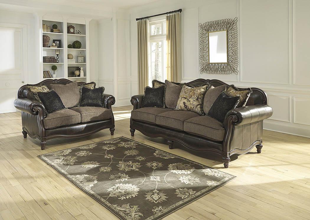 Orleans Furniture Winnsboro Durablend Vintage Sofa And Loveseat