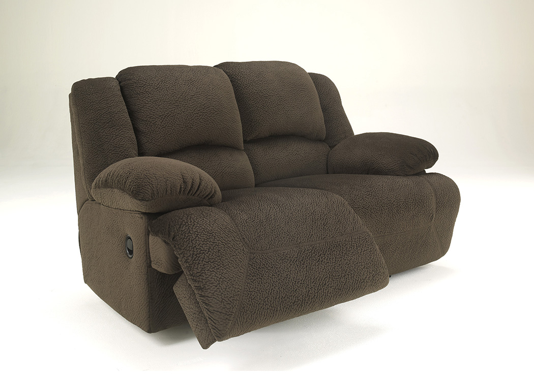 All Brands Furniture Edison Nj Toletta Chocolate Reclining Loveseat