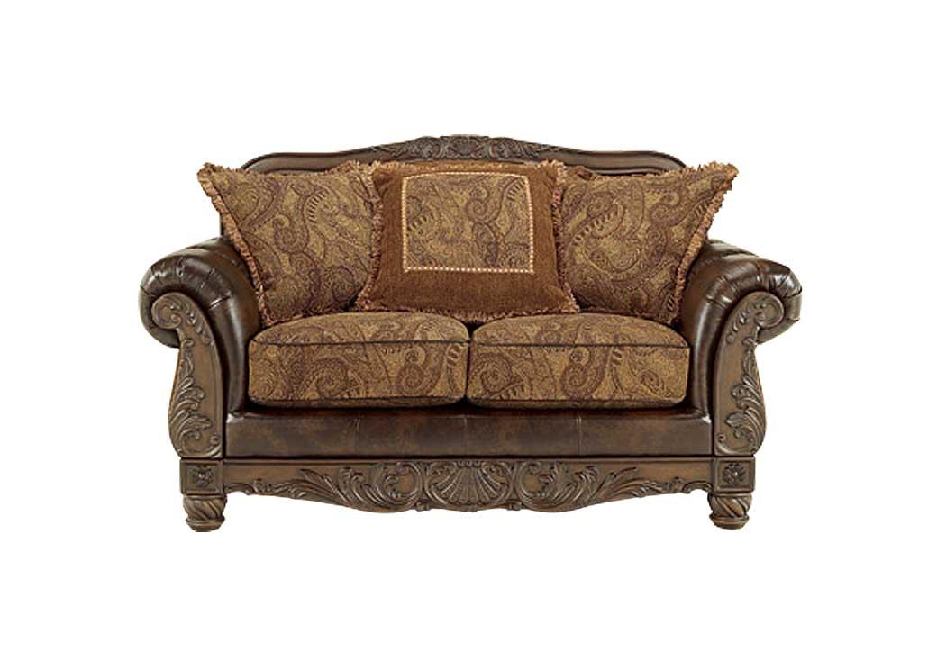 Mr Discount Furniture Chicago Il Fresco Durablend Antique Loveseat