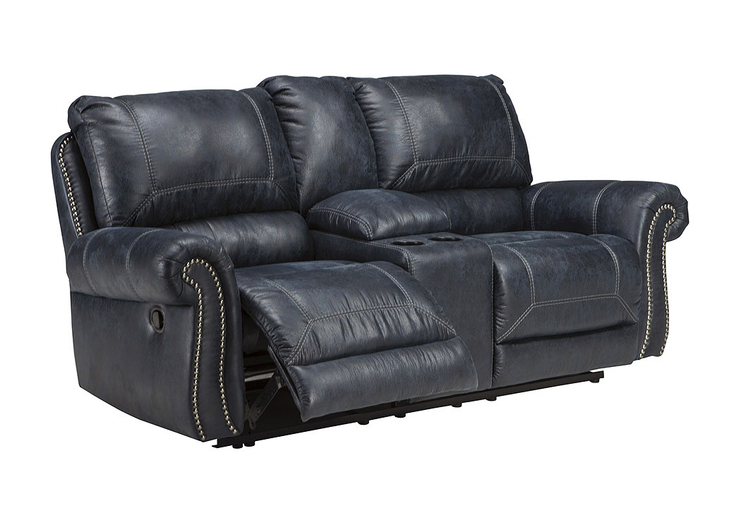 Furniture World Petal MS Milhaven Navy Double Reclining