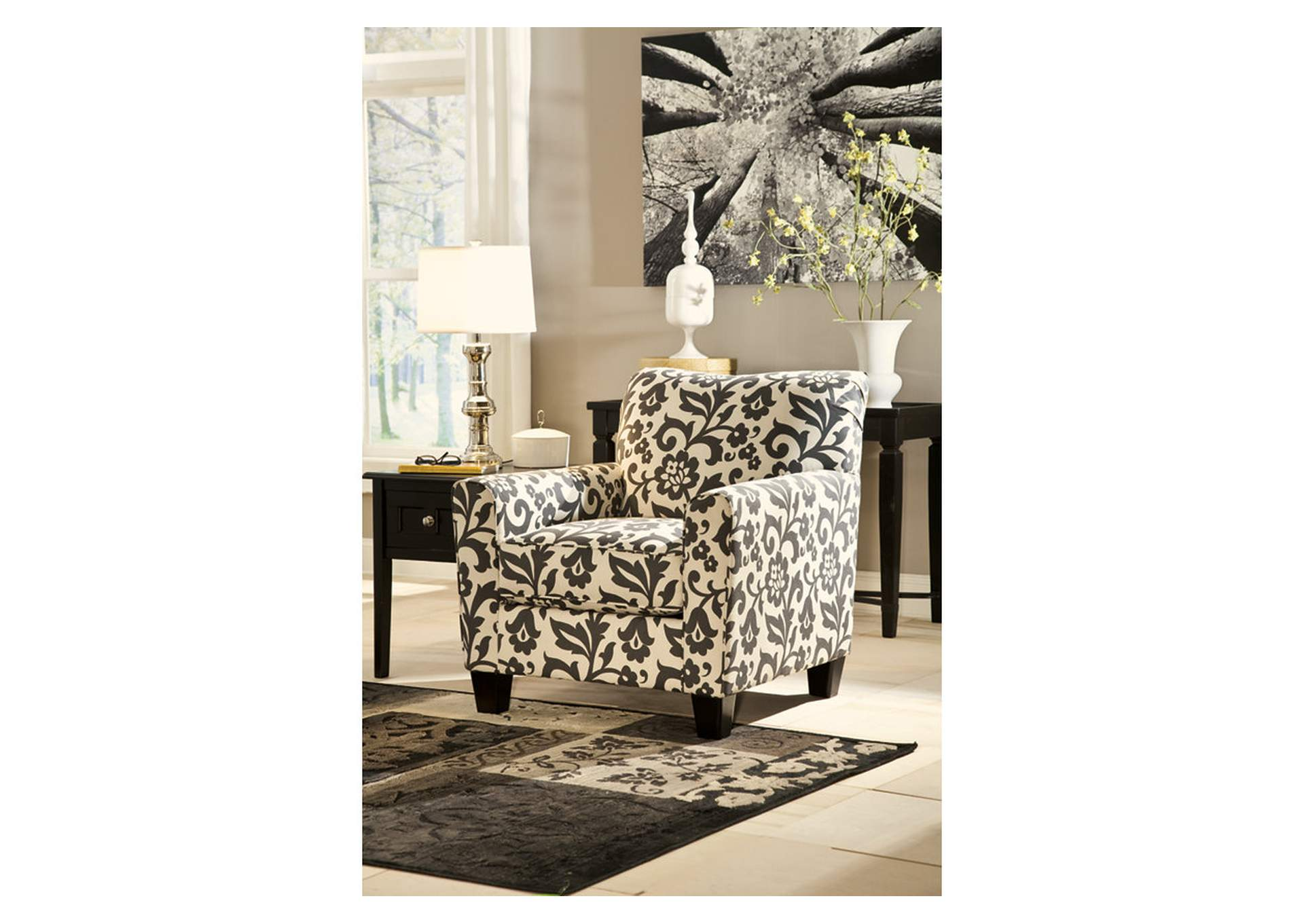W.A Akins u0026 Sons Levon Charcoal Accent Chair