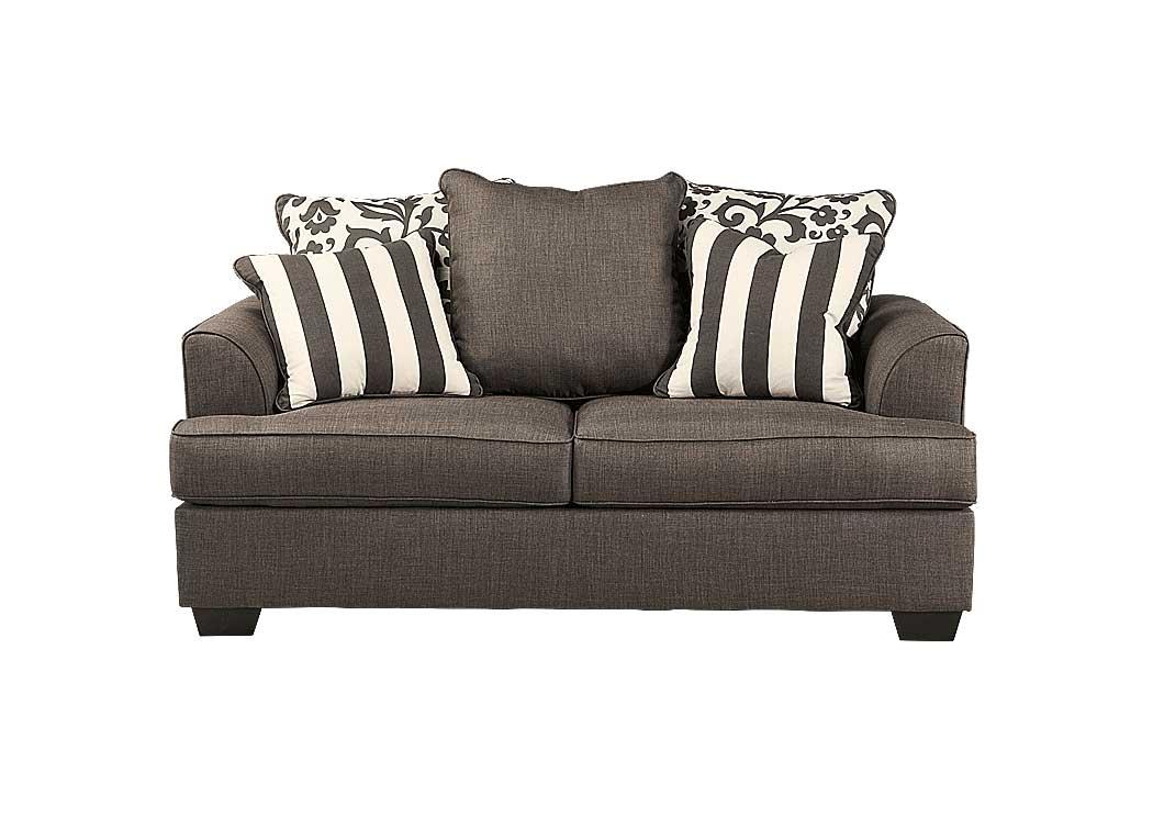 National Furniture Outlet Westwego La Levon Charcoal Loveseat
