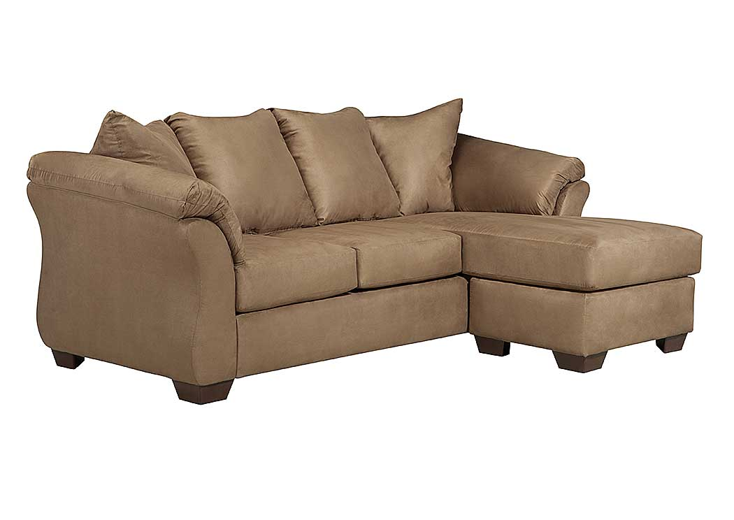 Jarons darcy mocha sofa chaise for Ashley furniture couch with chaise