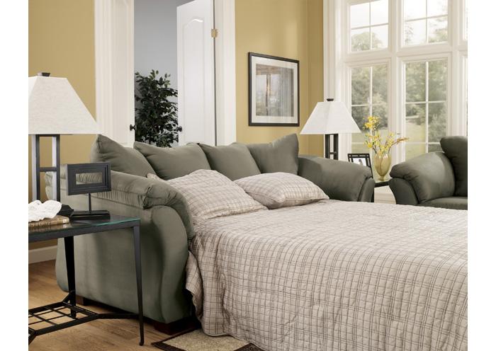 Brandywine Furniture Wilmington DE Darcy Sage Full Sofa