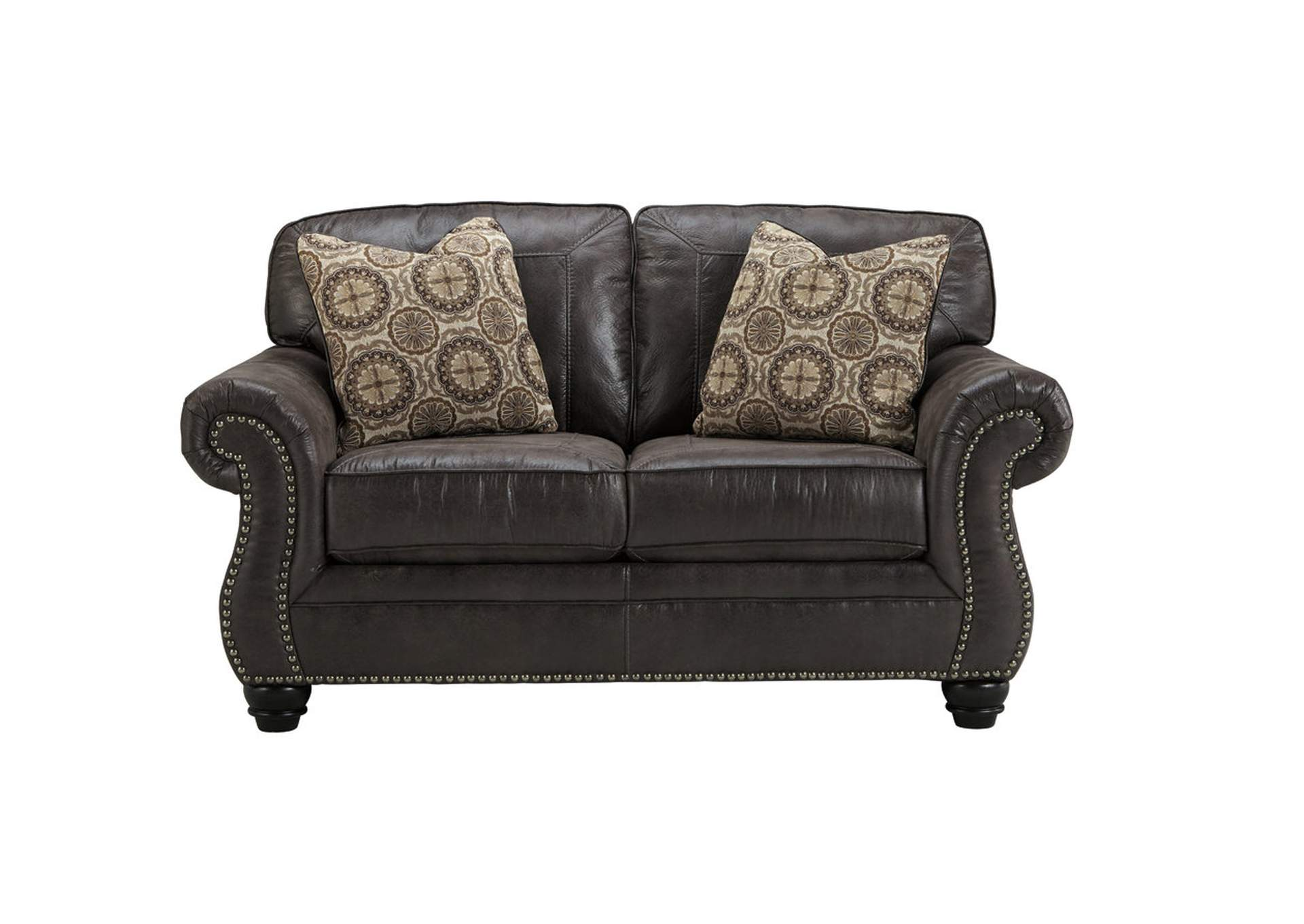 Corvin 39 S Furniture Breville Charcoal Loveseat