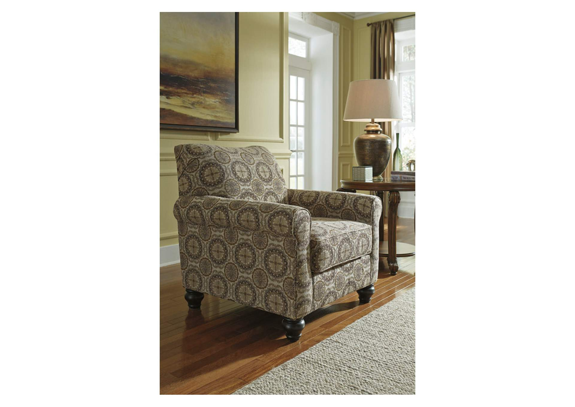 W.A Akins u0026 Sons Breville Burlap Accent Chair