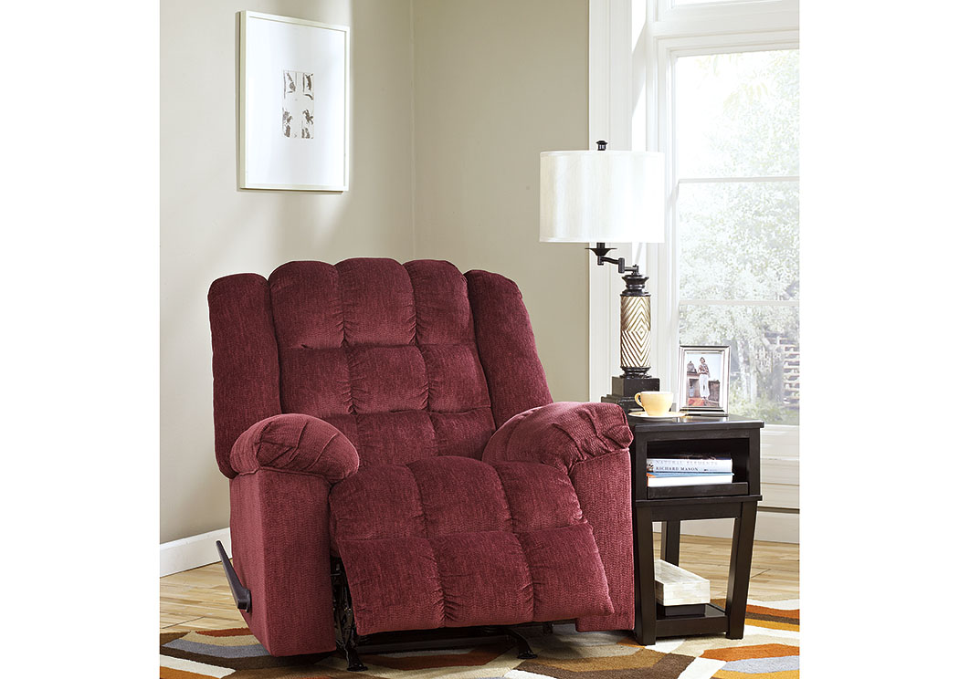 furniture world petal ms ludden burgundy power rocker