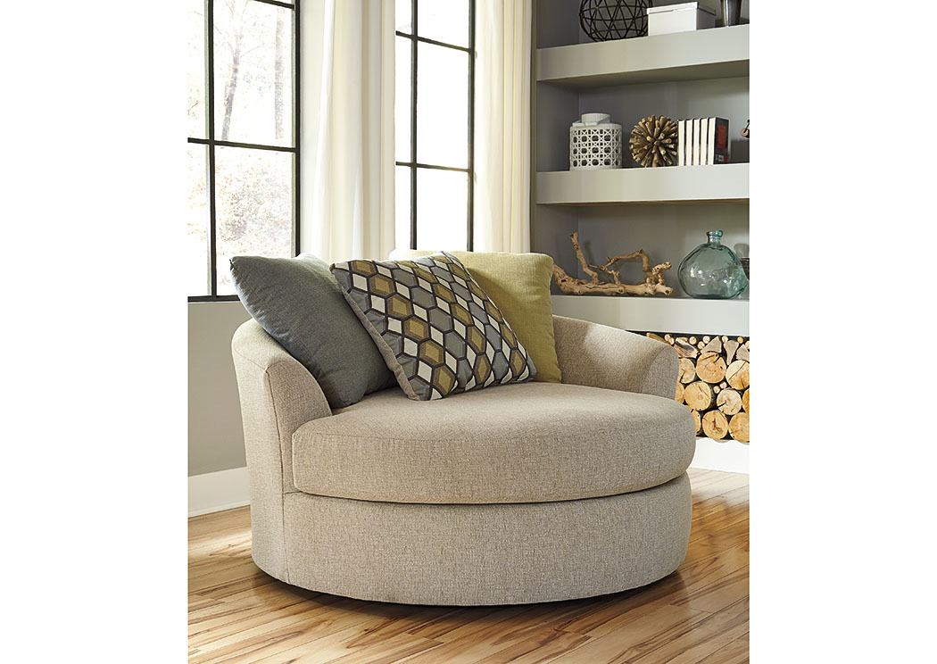 furniture and appliance casheral linen oversized swivel accent chair