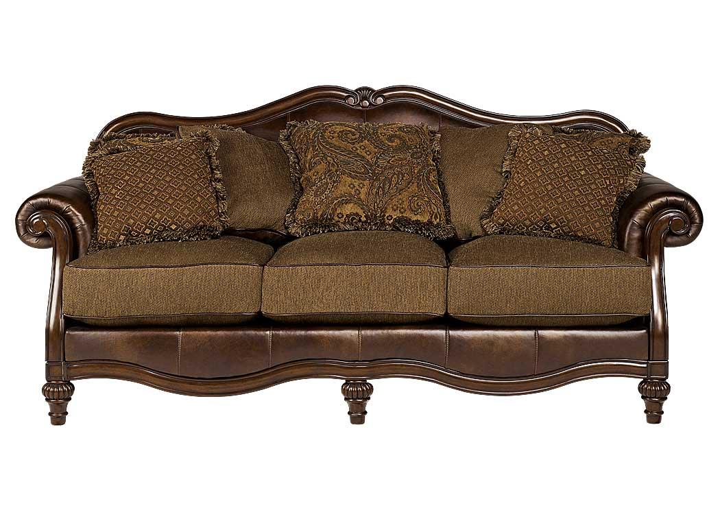 Claremore antique sofa signature design by ashley