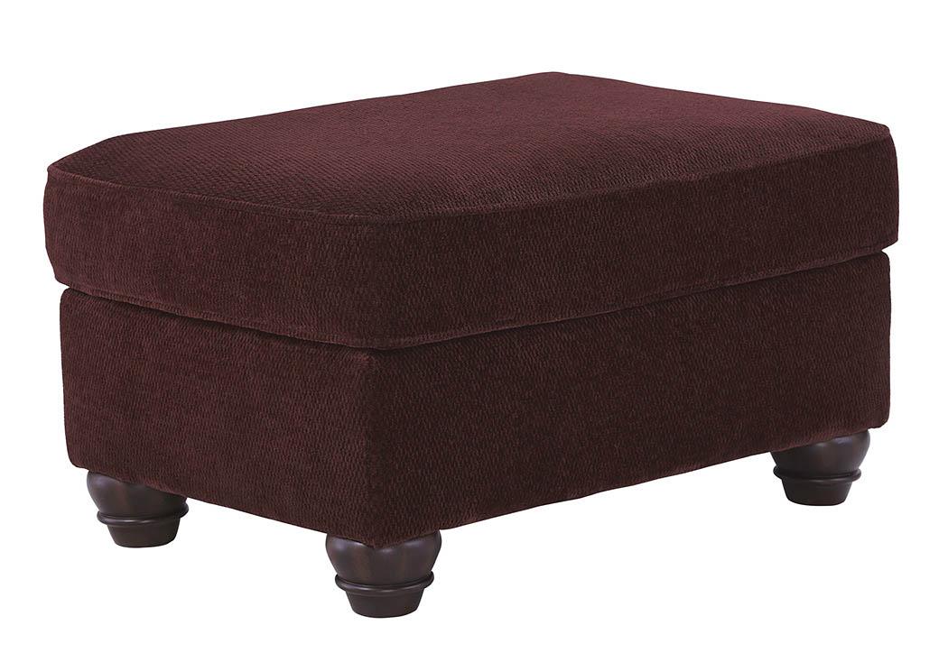 Morrisons Furniture Chesterbrook Burgundy Ottoman