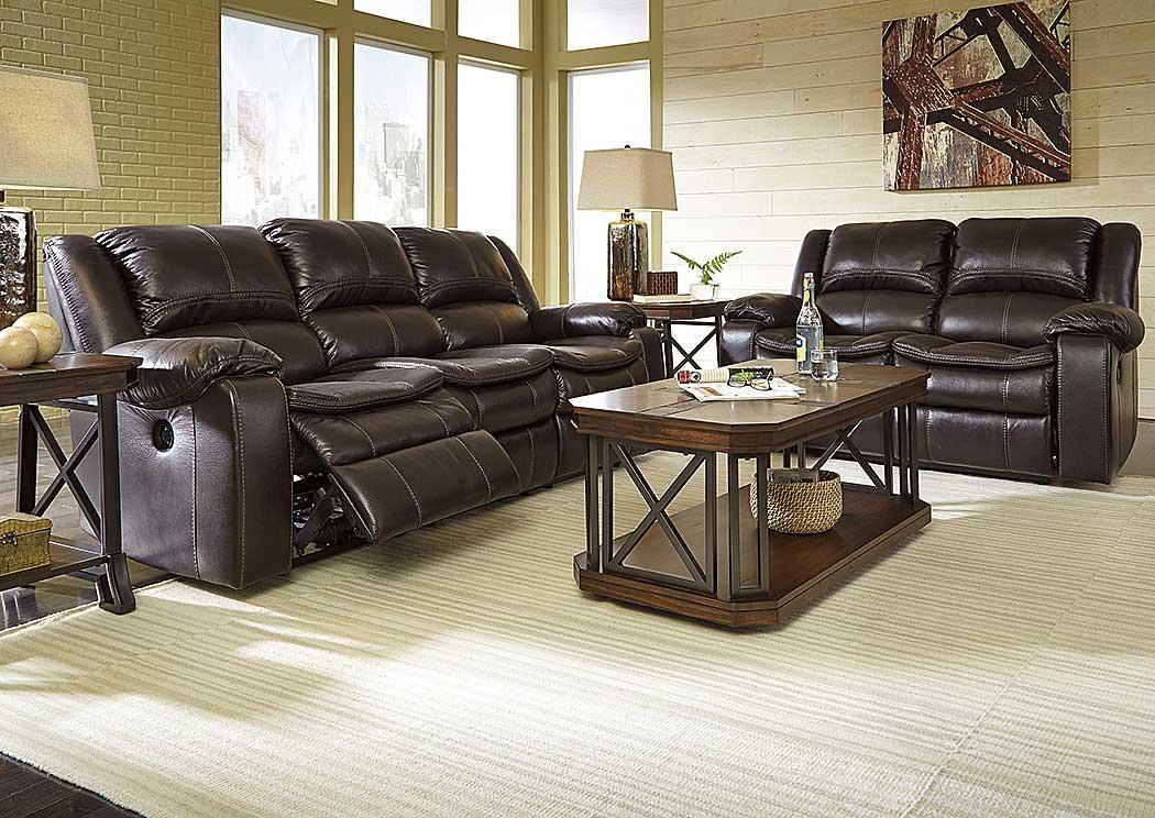 Long Knight Brown Reclining Power Sofa U0026 Loveseat