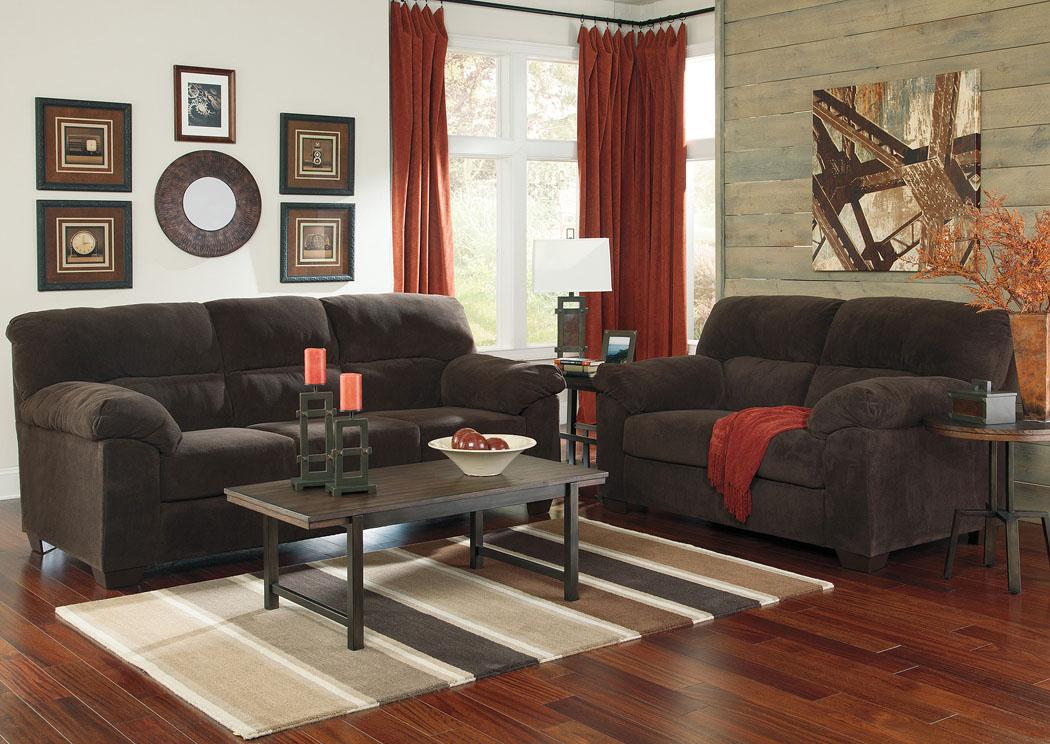 Brandywine Furniture Wilmington DE Zorah Chocolate Sofa