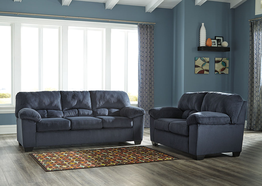 Roses Flooring And Furniture Dailey Midnight Sofa And Loveseat