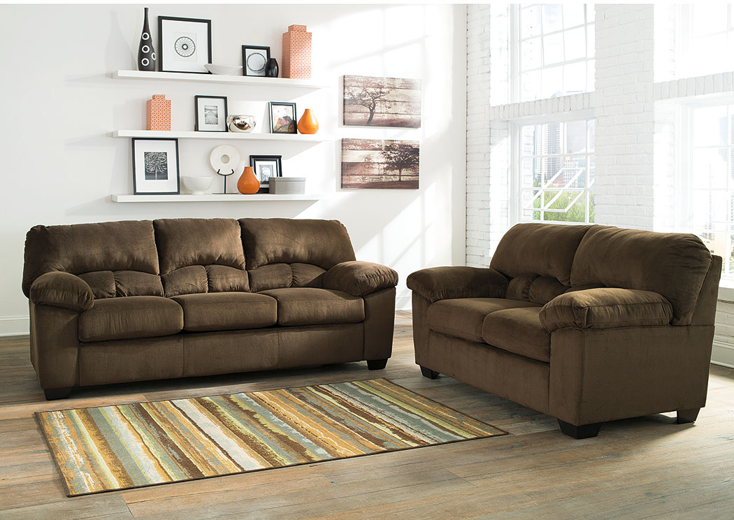jarons dailey chocolate sofa and loveseat. Black Bedroom Furniture Sets. Home Design Ideas