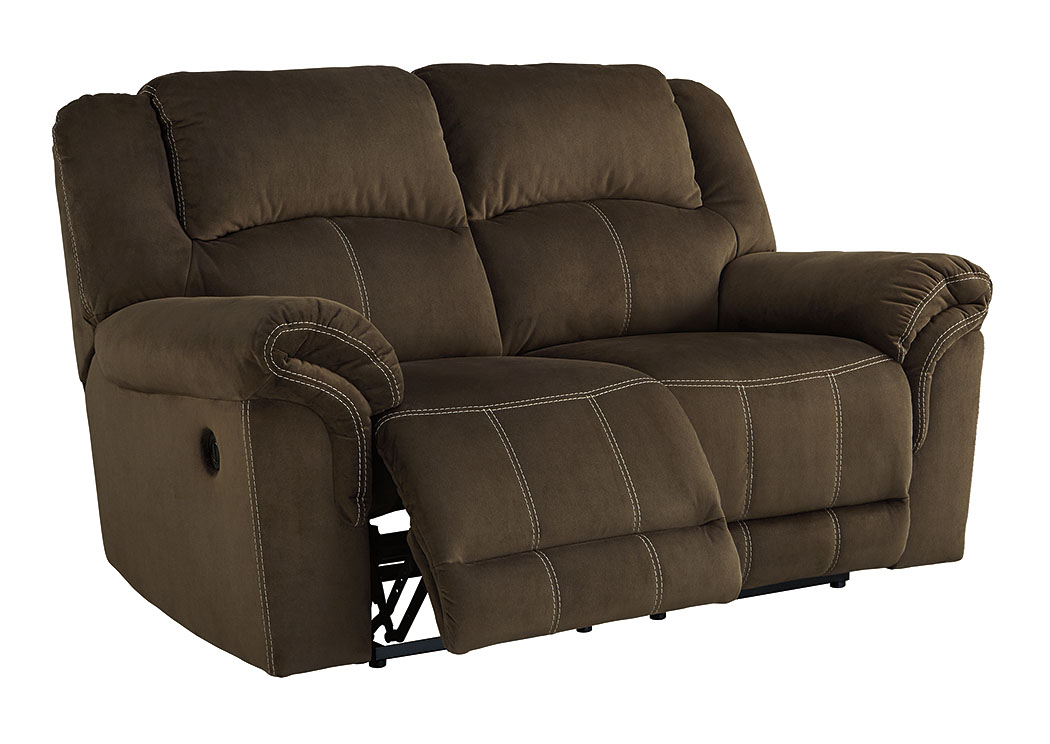 Newby 39 S Furniture Quinnlyn Coffee Reclining Power Loveseat