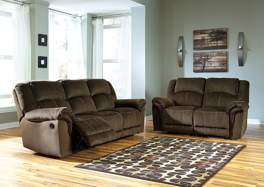 Paul 39 S Furniture Quinnlyn Coffee Reclining Sofa And Loveseat