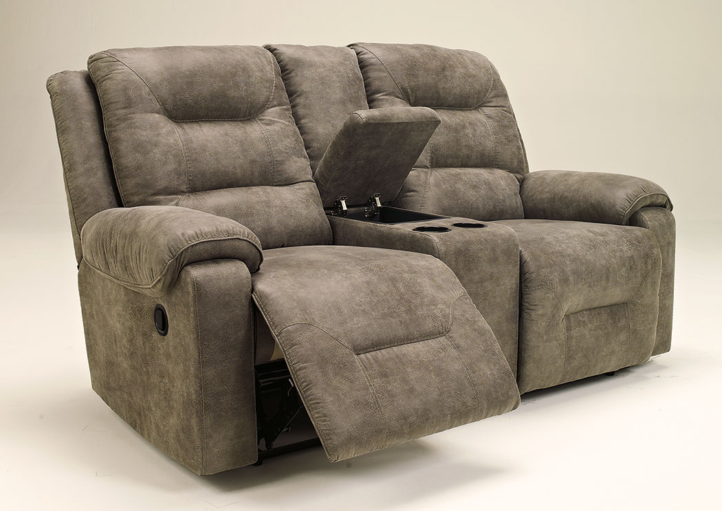 Regal House Furniture Outlet New Bedford Ma Rotation Smoke Double Reclining Loveseat W Console