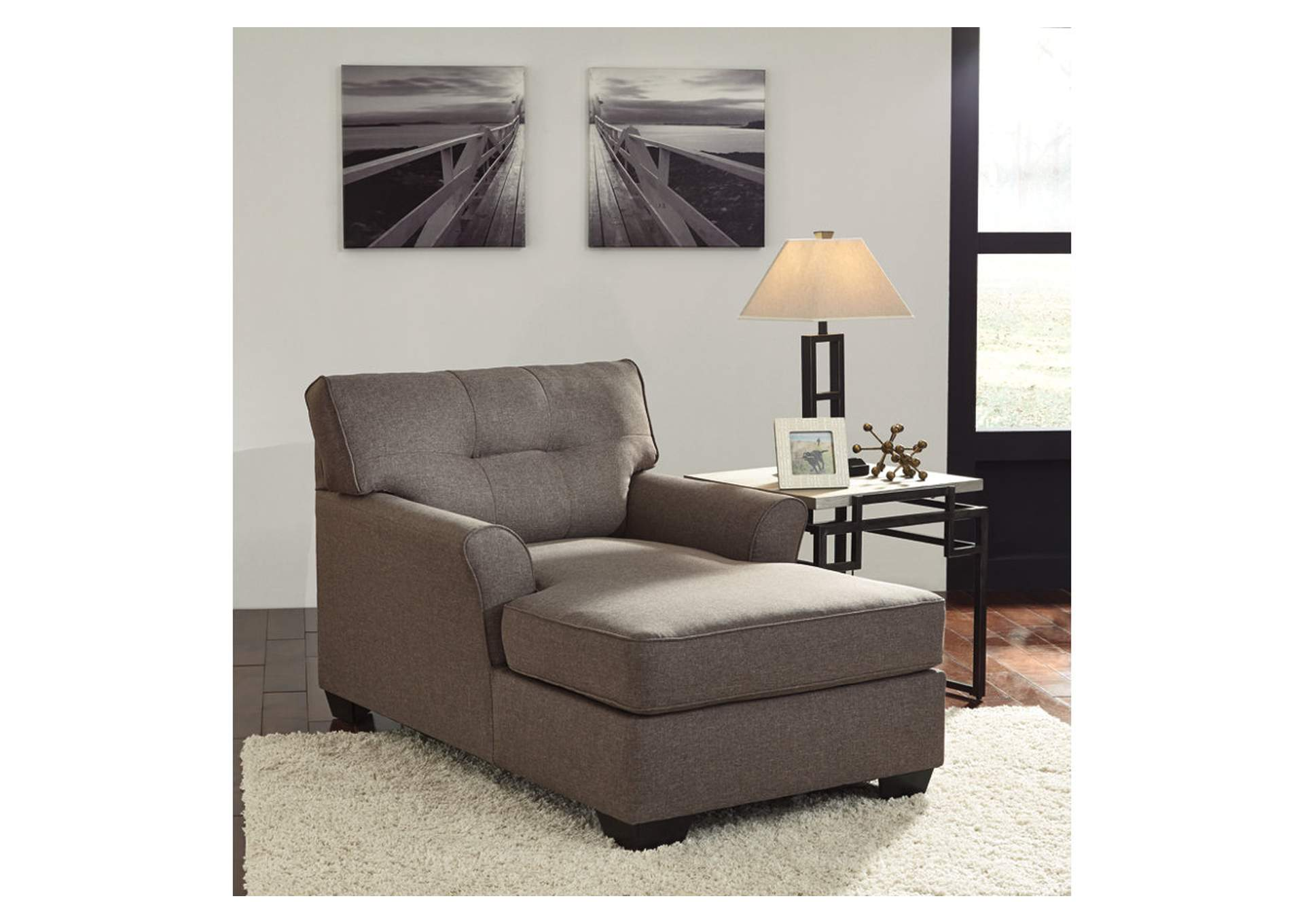 Gibson Mcdonald Furniture Tibbee Slate Chaise