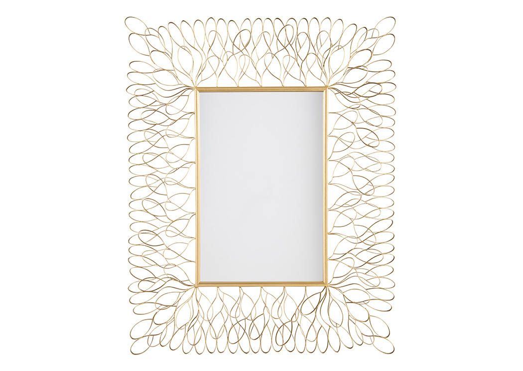 Stringer Furniture Ogdon Antique Gold Finish Accent Mirror
