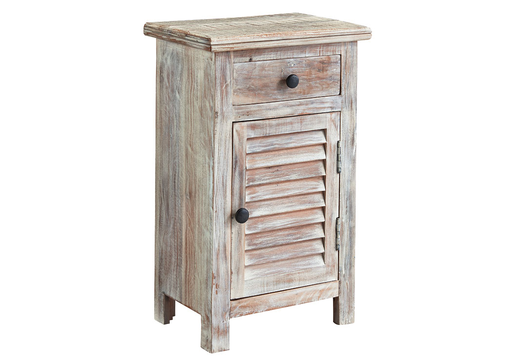 Family Furniture Of America : West Palm Beach, FL Charlowe White Wash Door  Night Stand