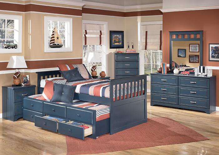 Barbara Jeans Furniture Leo Twin Trundle Bed