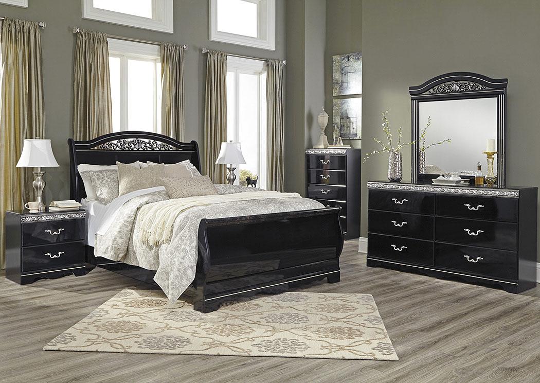 National Furniture Outlet Westwego La Constellations Black Queen Sleigh Bed W Dresser Mirror